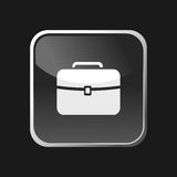 Briefcase icon on square web button Stock Images