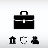 Briefcase icon, vector illustration. Flat design style Royalty Free Stock Photo