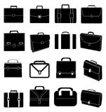 Briefcase icons set Royalty Free Stock Images
