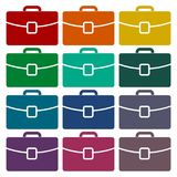 Briefcase icons set. Vector icon Royalty Free Stock Photo