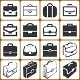 Briefcase Icons Set Stock Photos