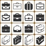 Briefcase Icons Set. 16 Briefcase Icons Set Illustration Vector Illustration