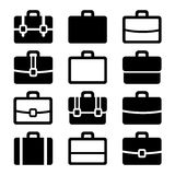 Briefcase Icons Set on White Background. Vector Stock Photography
