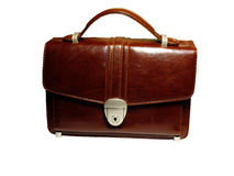 Briefcase isolated. Briefcase (case) on white background, isolated, insulated, with clipping path for photoshop, with path, for designer Royalty Free Stock Images