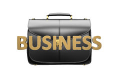 Briefcase isolated on white Stock Photos