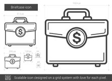 Briefcase line icon. Royalty Free Stock Photography