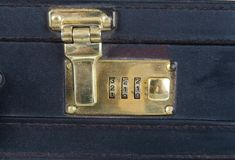 Briefcase lock Stock Photo