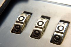 Briefcase lock Royalty Free Stock Photos