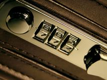 Briefcase Lock Royalty Free Stock Photo