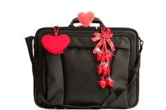 Briefcase in love Royalty Free Stock Images
