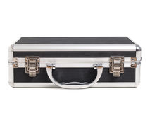 Briefcase lying on white. Royalty Free Stock Photo