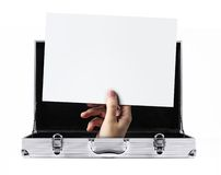 Briefcase message Royalty Free Stock Photography