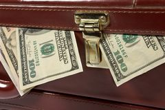 Briefcase with money Stock Photography