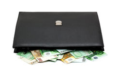 Briefcase with money Stock Image