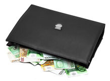 Briefcase with money Royalty Free Stock Photography