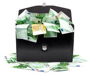 Briefcase with money Royalty Free Stock Images