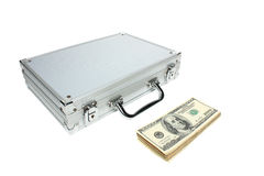 Briefcase and money Stock Image