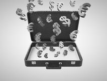 Briefcase with money Stock Photo