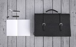 Briefcase and notebook Royalty Free Stock Image