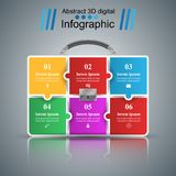 Briefcase, office - business infographic. Briefcase, office - business infographic Vector eps 10 Stock Photography