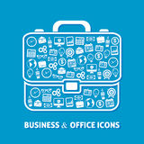 Briefcase office icons Stock Photo