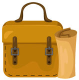 Briefcase with paper work Royalty Free Stock Images