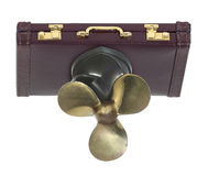 Briefcase with Propeller Stock Photos