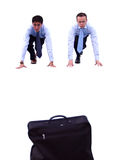 Briefcase race Royalty Free Stock Photo