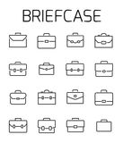 Briefcase related vector icon set. Well-crafted sign in thin line style with editable stroke. Vector symbols  on a white background. Simple pictograms Stock Image