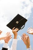 Briefcase rush Royalty Free Stock Image