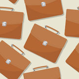 Briefcase seamless pattern. Briefcase, portfolio seamless pattern design Royalty Free Stock Photography