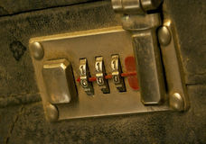 Briefcase security lock  Stock Photography