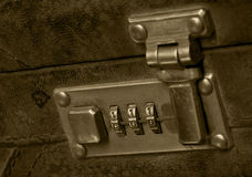 Briefcase security lock retro Royalty Free Stock Images