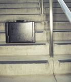 Briefcase on stairs Stock Image