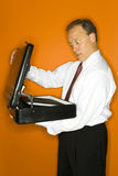 Briefcase surprise Stock Image