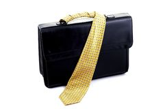 Briefcase from tie Stock Images