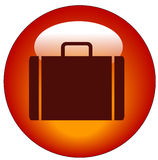 Briefcase web button Royalty Free Stock Photo