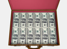 Briefcase With Money Stock Images