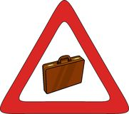 Briefcase zone. Icon, logo, sign Royalty Free Stock Images