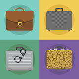 Briefcases icon set Stock Images