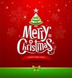 Briefgestaltung der frohen Weihnachten Lizenzfreie Stockfotos
