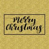 Briefgestaltung der frohen Weihnachten Stockfotografie
