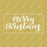 Briefgestaltung der frohen Weihnachten Lizenzfreie Stockfotografie