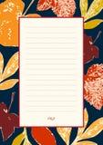 Briefhoofd met de herfstbladeren Stock Foto's