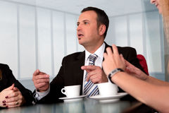 Briefing with boss. Royalty Free Stock Photos