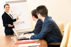 Briefing d'affaires Photographie stock libre de droits