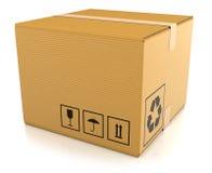 Briefkasten auf weißem Hintergrund Stockfotos