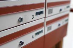 Briefkasten für einige Bewohner Ein Platz für Korrespondenz in lizenzfreie stockbilder