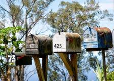 Briefkasten, Maui Hawaii lizenzfreie stockfotografie