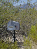 Briefkasten nahe altem Fort Lowell in Tucson, Arizona Stockbilder